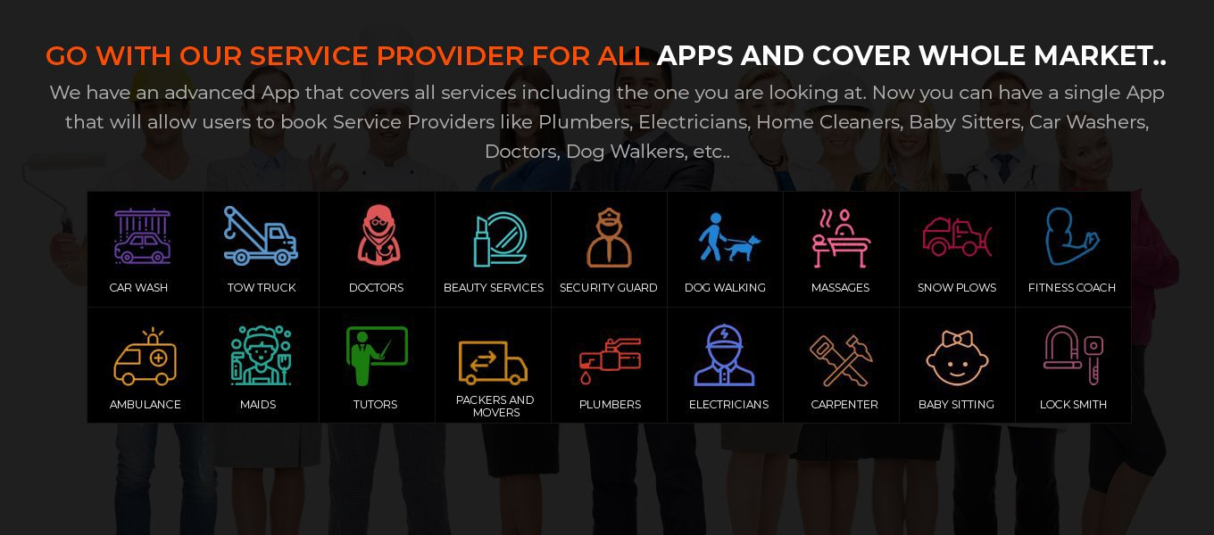 on demand service provider app