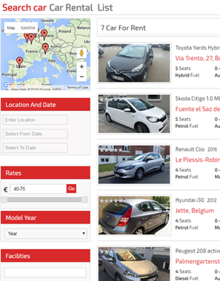Car Listing Page