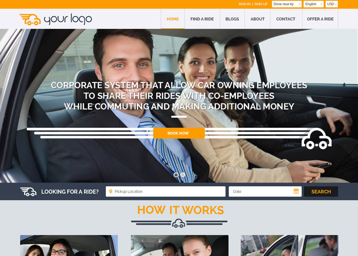 carpooling website template