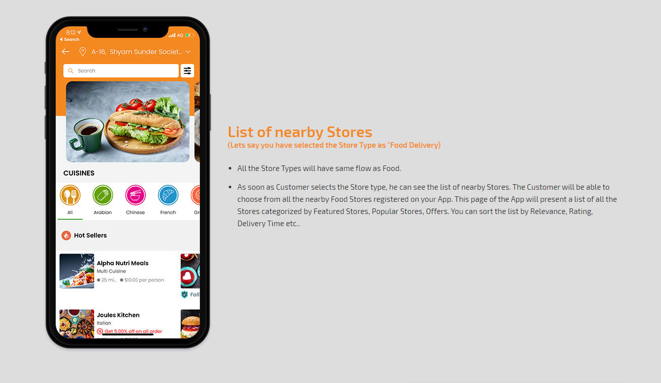 list of nearby stores