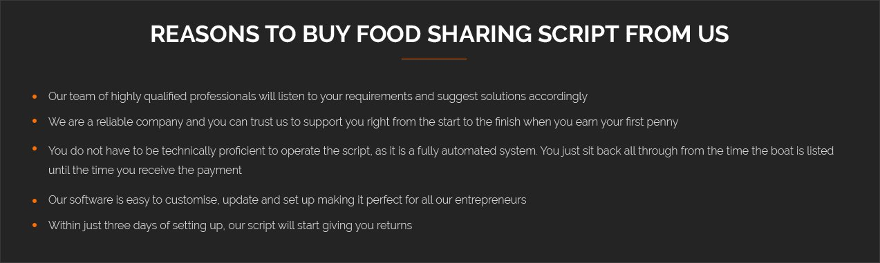 food sharing script