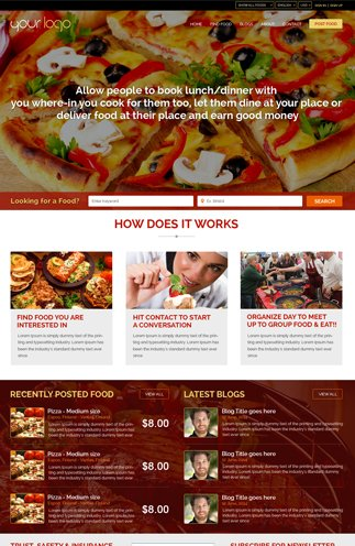 food sharing view full screen layout