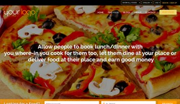 food sharing orange templates
