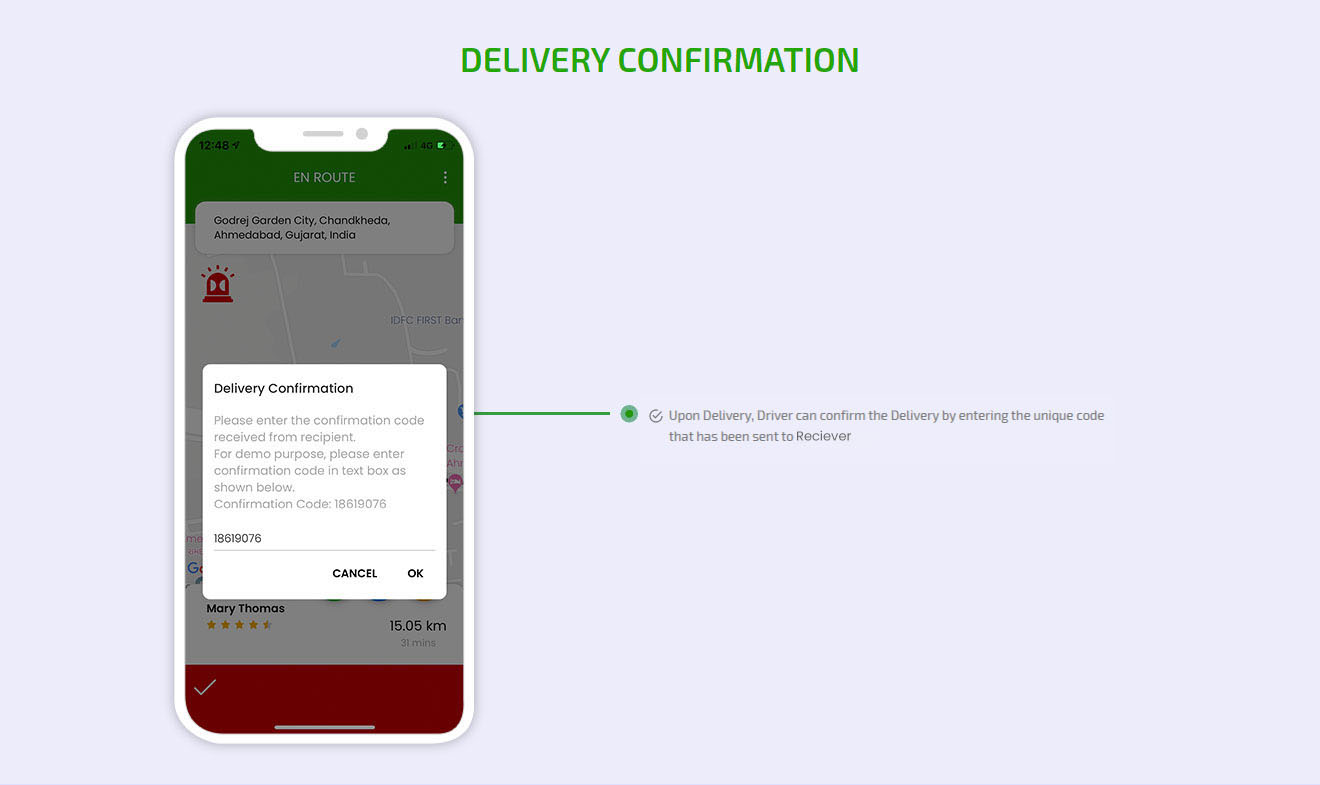 Delivery confirmation