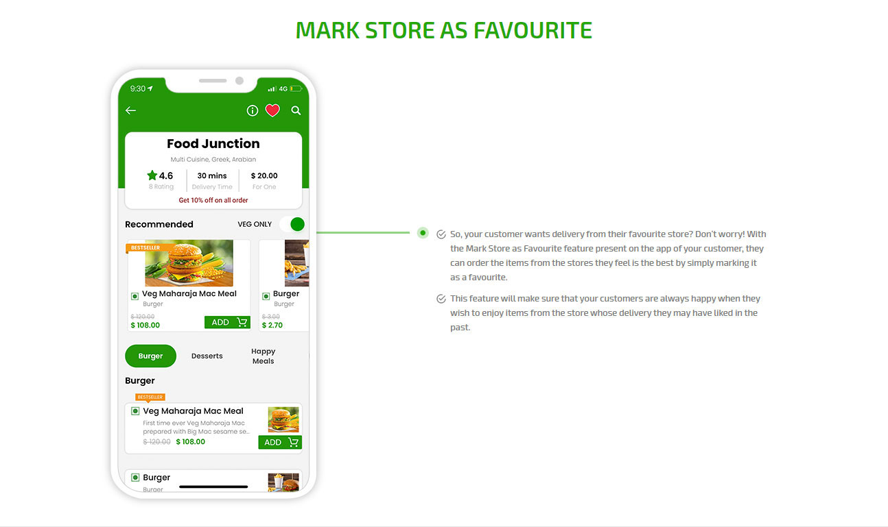 Make store as favourite