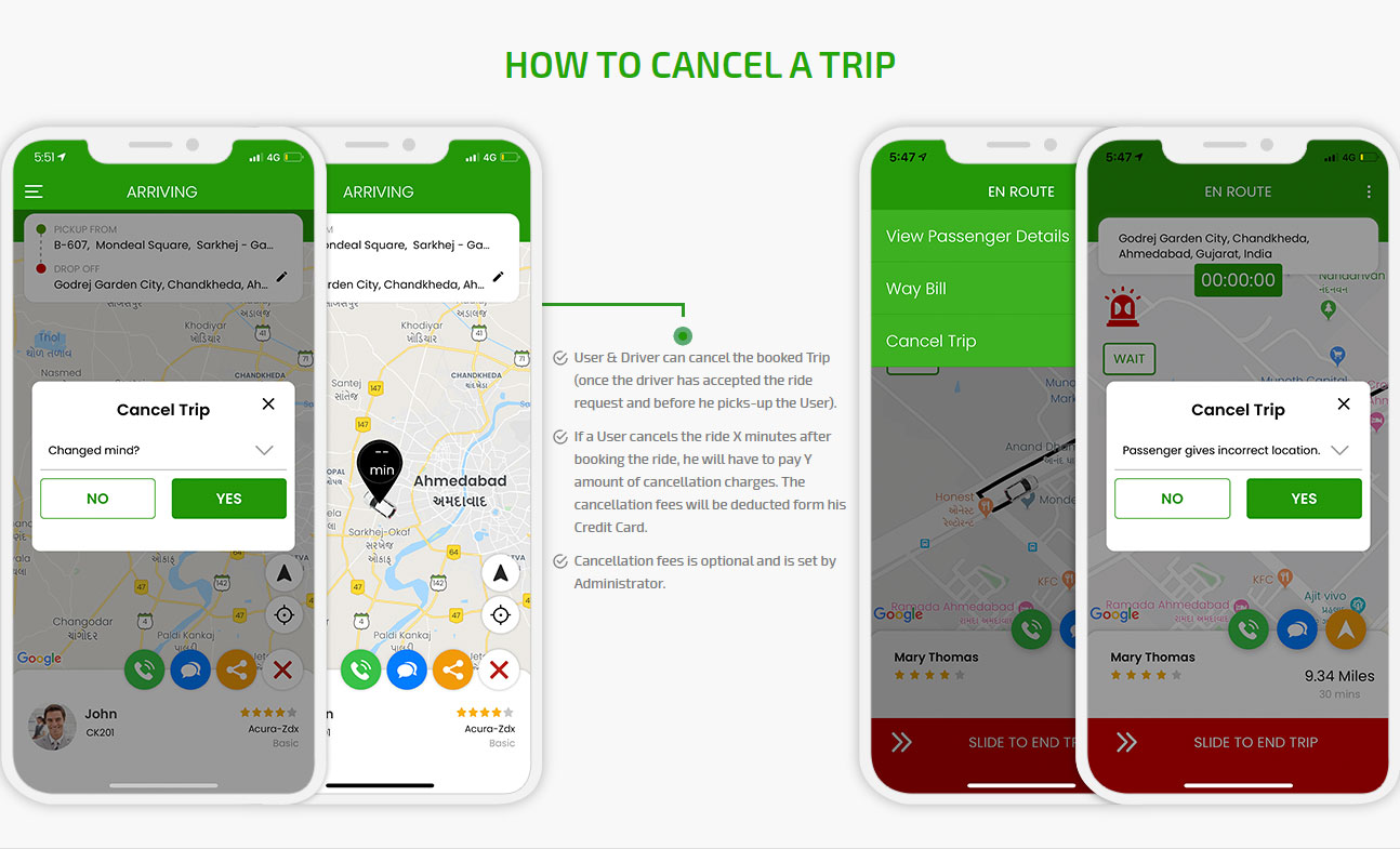 How to cancel a trip