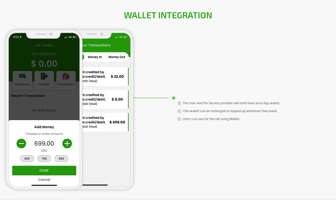 Wallet intigration
