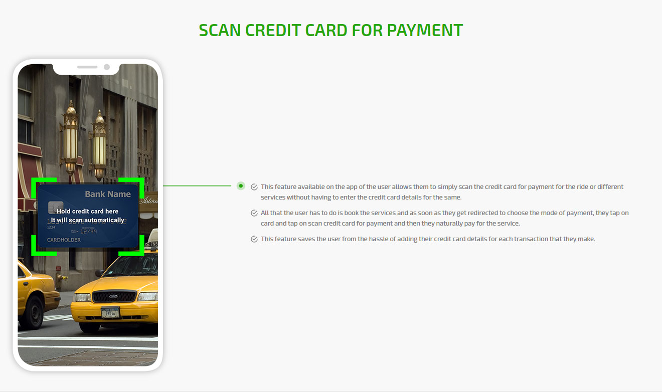 Scan debit card for payment