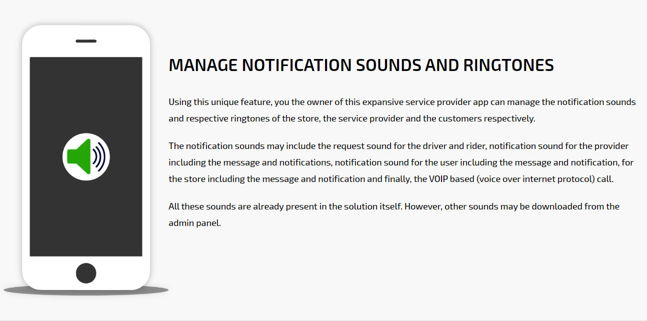Manage notification sounds