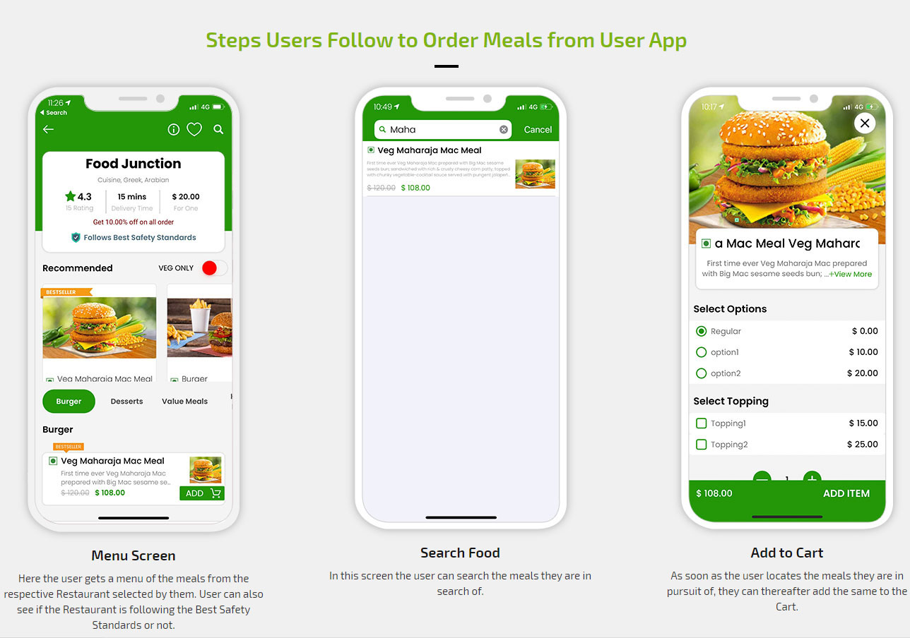 Order a meal from user app