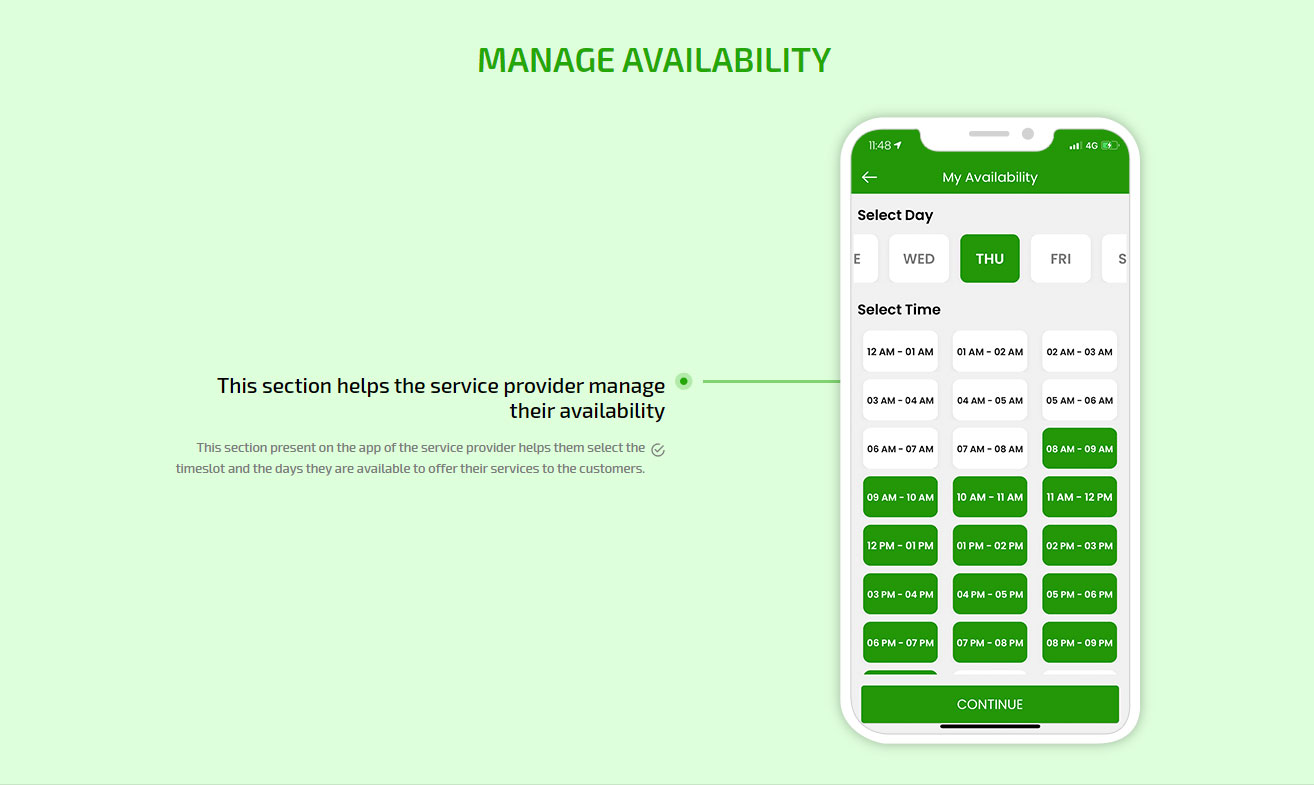 Manage availability