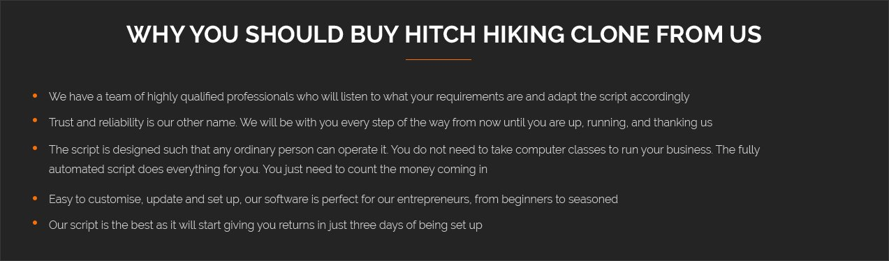 Why Should Buy Hitch Hiking Clone Forms Us