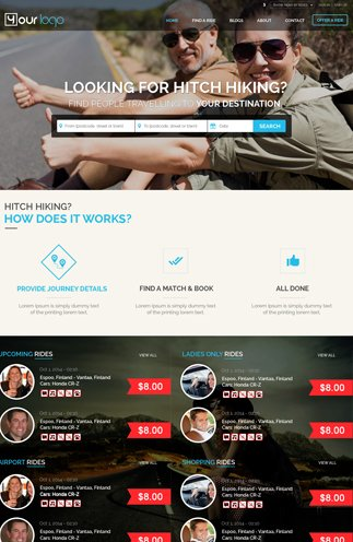 Hitch Hiking Site Template 1