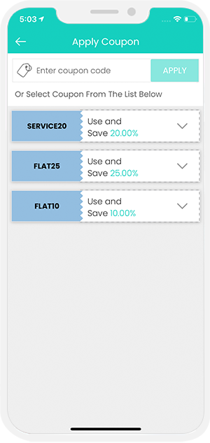 choose service categories