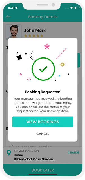 Select booking location