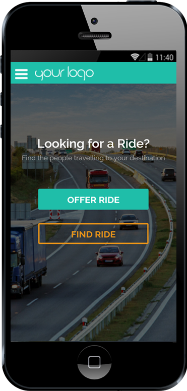 Carpooling iPhone App - Looking For a Ride Screen
