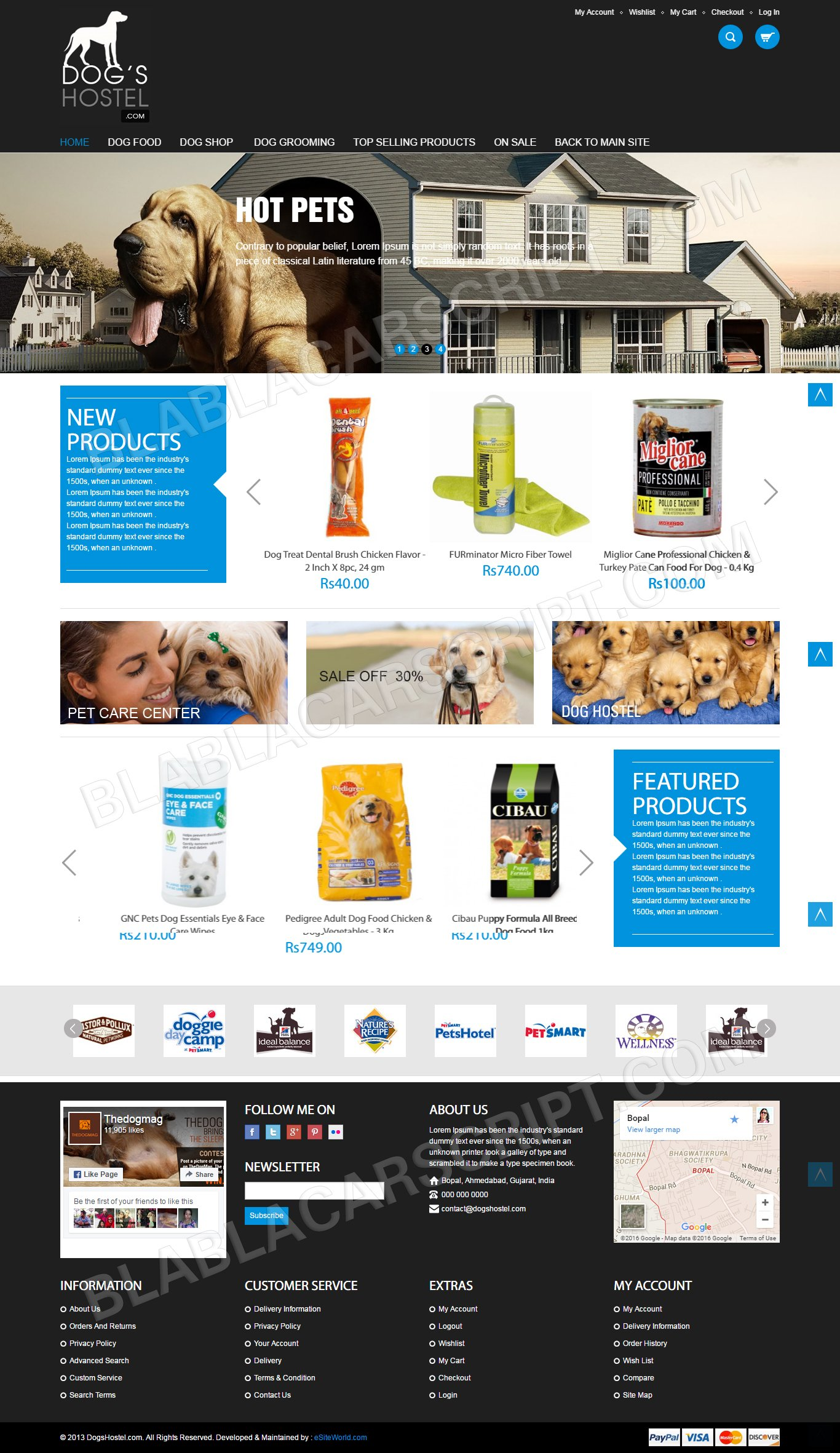 Pets Supplies Ecommerce Site Clone