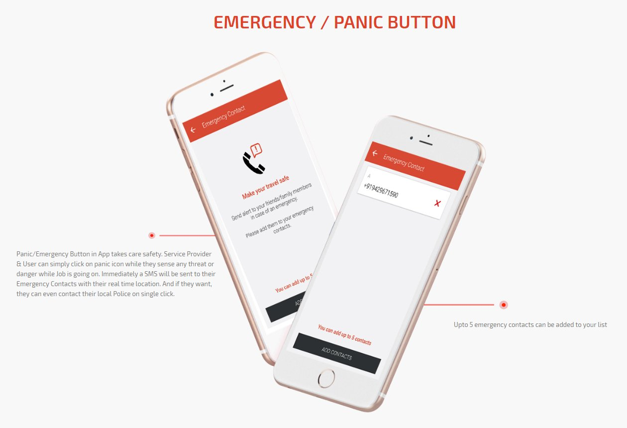 panic/emergency button screen