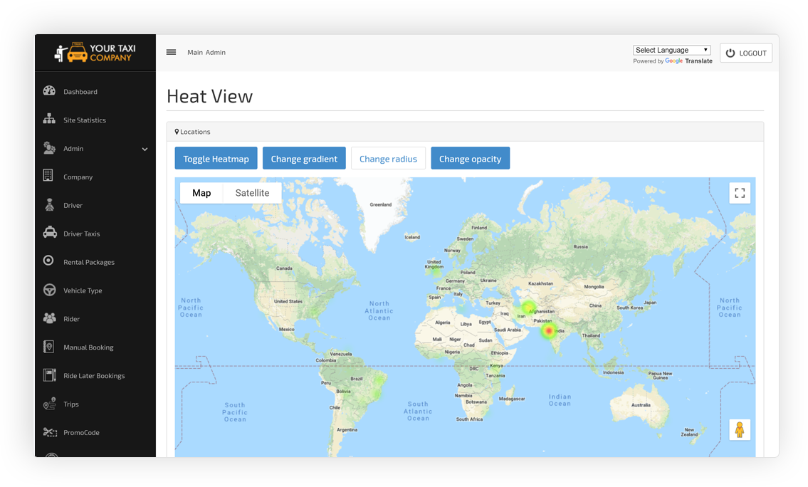 Heat Map View Screen