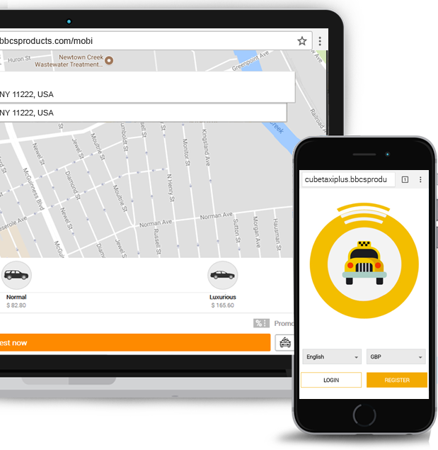 Hybrid Riders Booking App For Desktop, Tablet, Iphone & Android