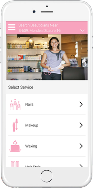 user select service and location