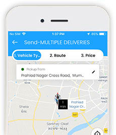 delivery app panel