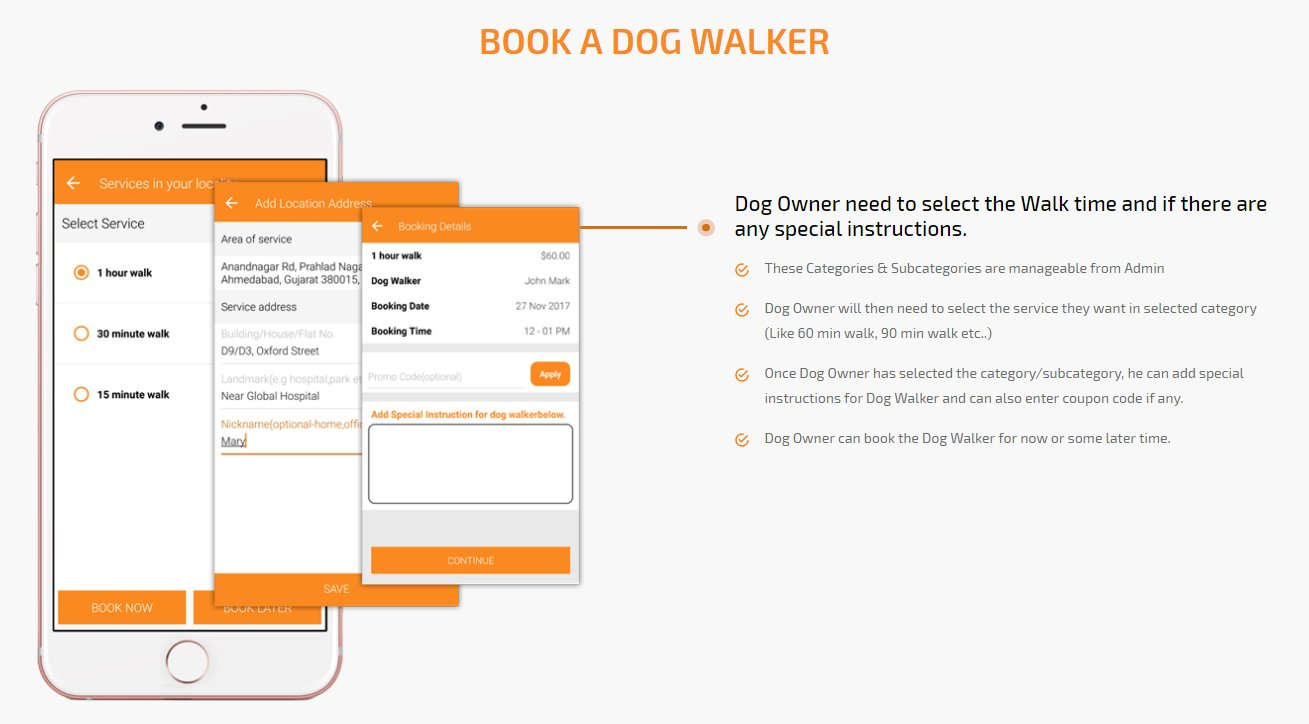 dog owner book a dog walker