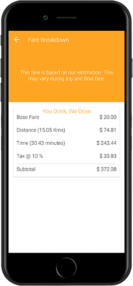 on demand drink-and-drive service app