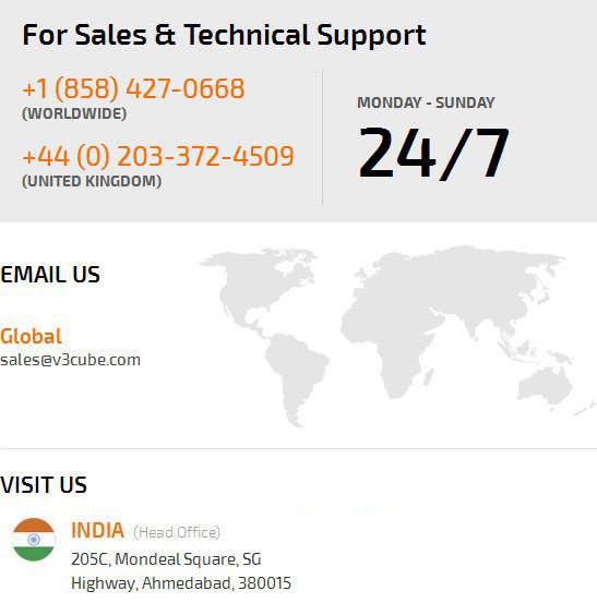 for sales and technical support