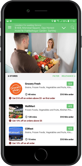 grocery delivery app solution