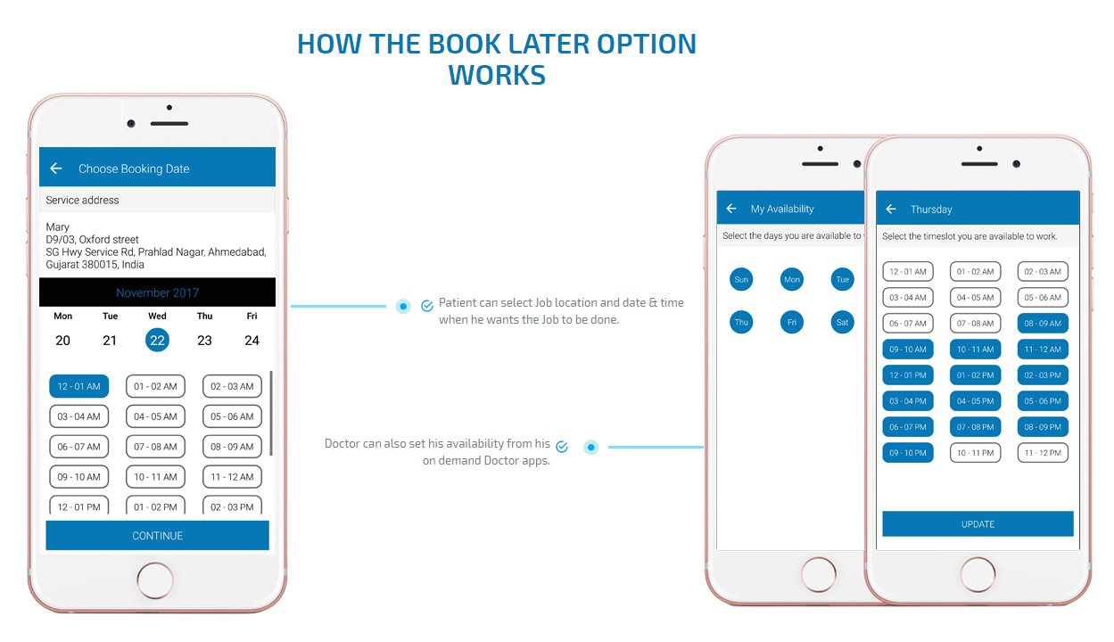 patient app book later option screen