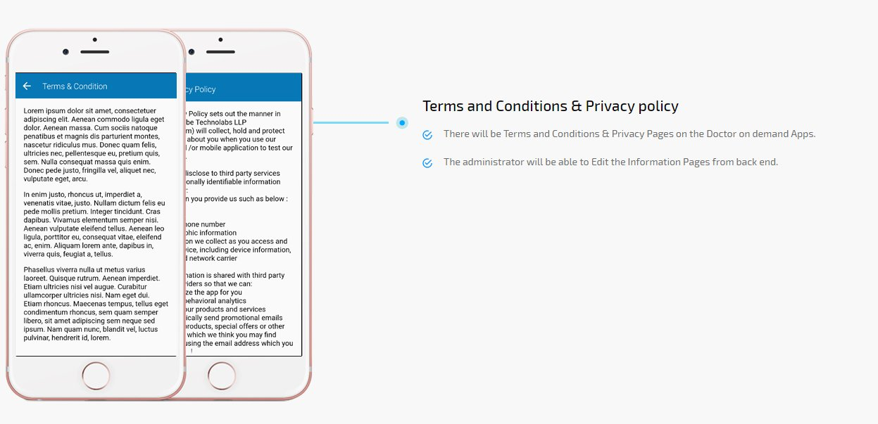 terms and conditions & privacy policy screen